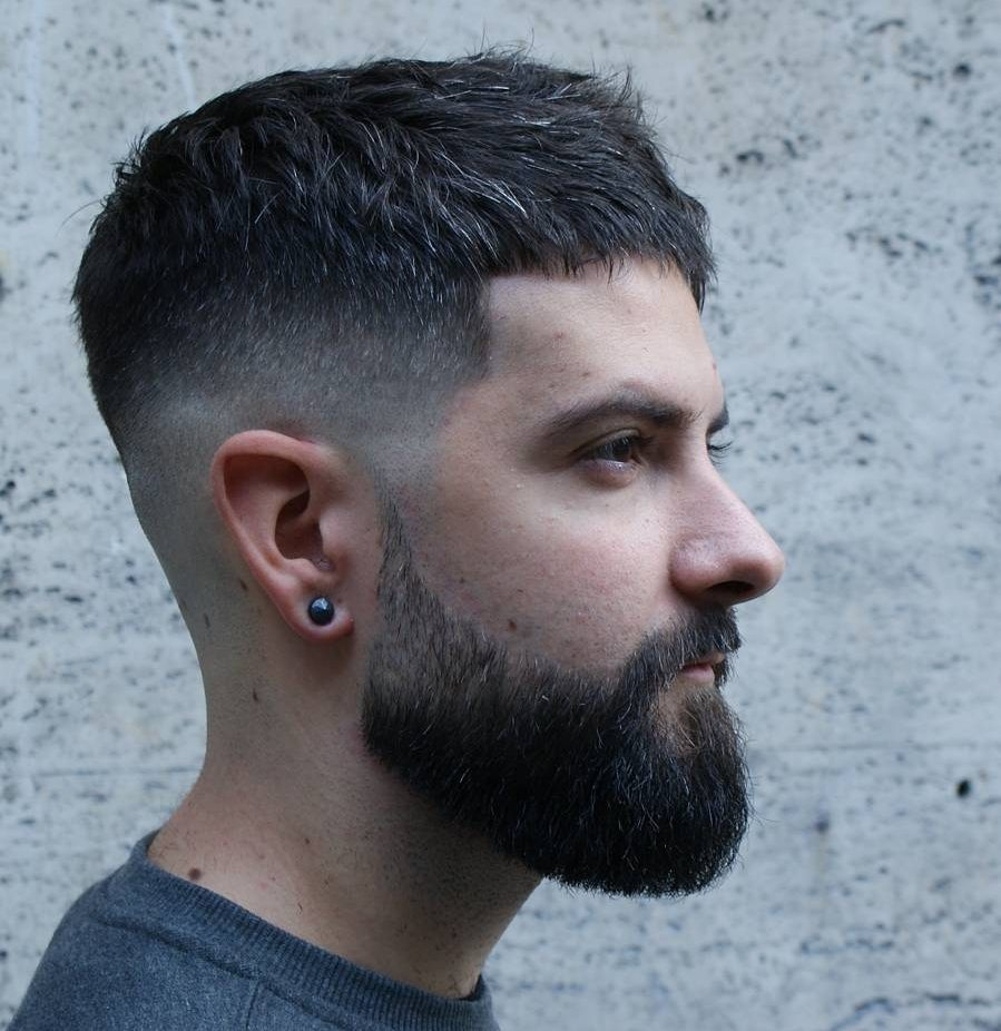 Men Short Hairstyles buzz cut for men short hairstyles Short Textured Crop Beard