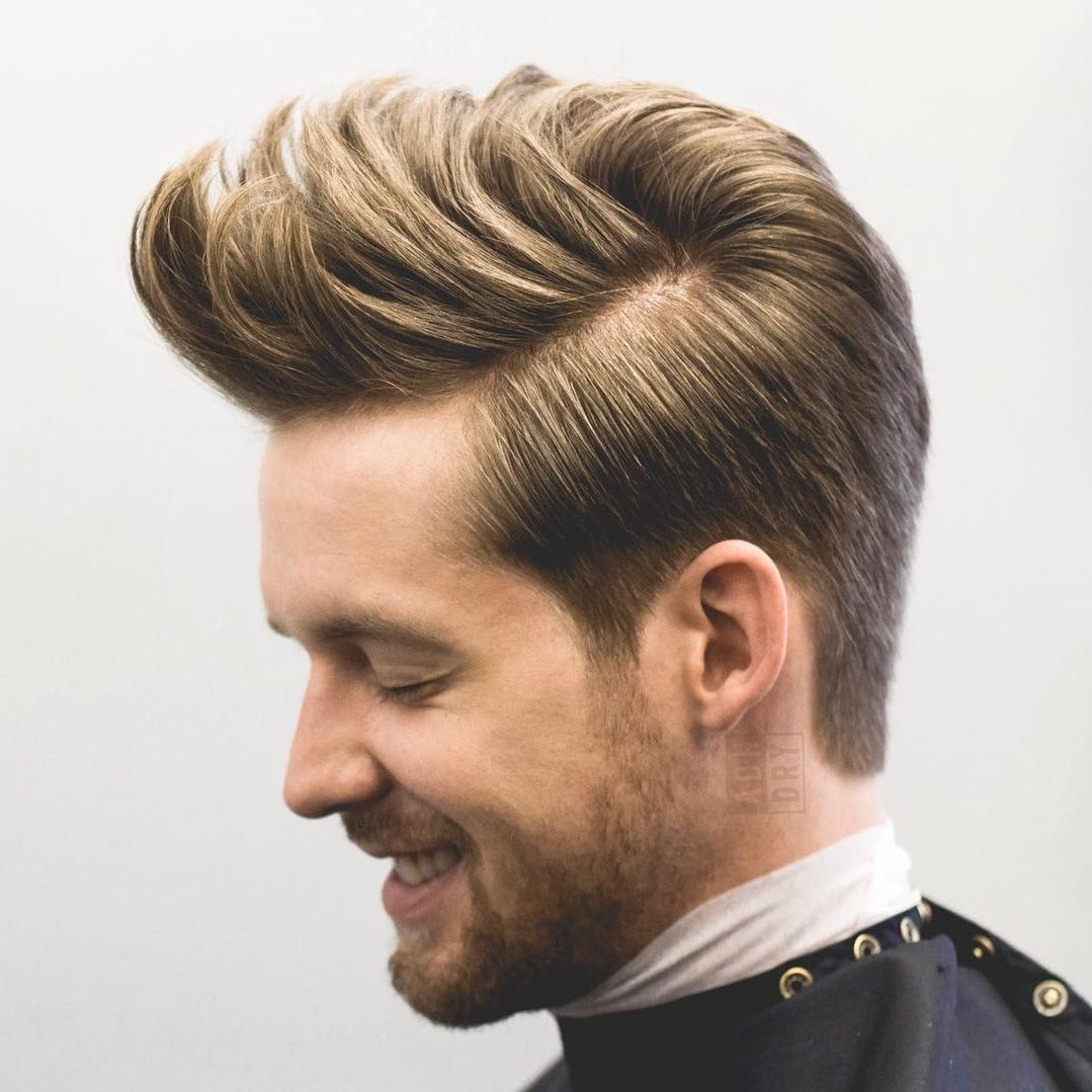 Medium Hairstyles Men 18 textured side part Blow Back Hairstyle