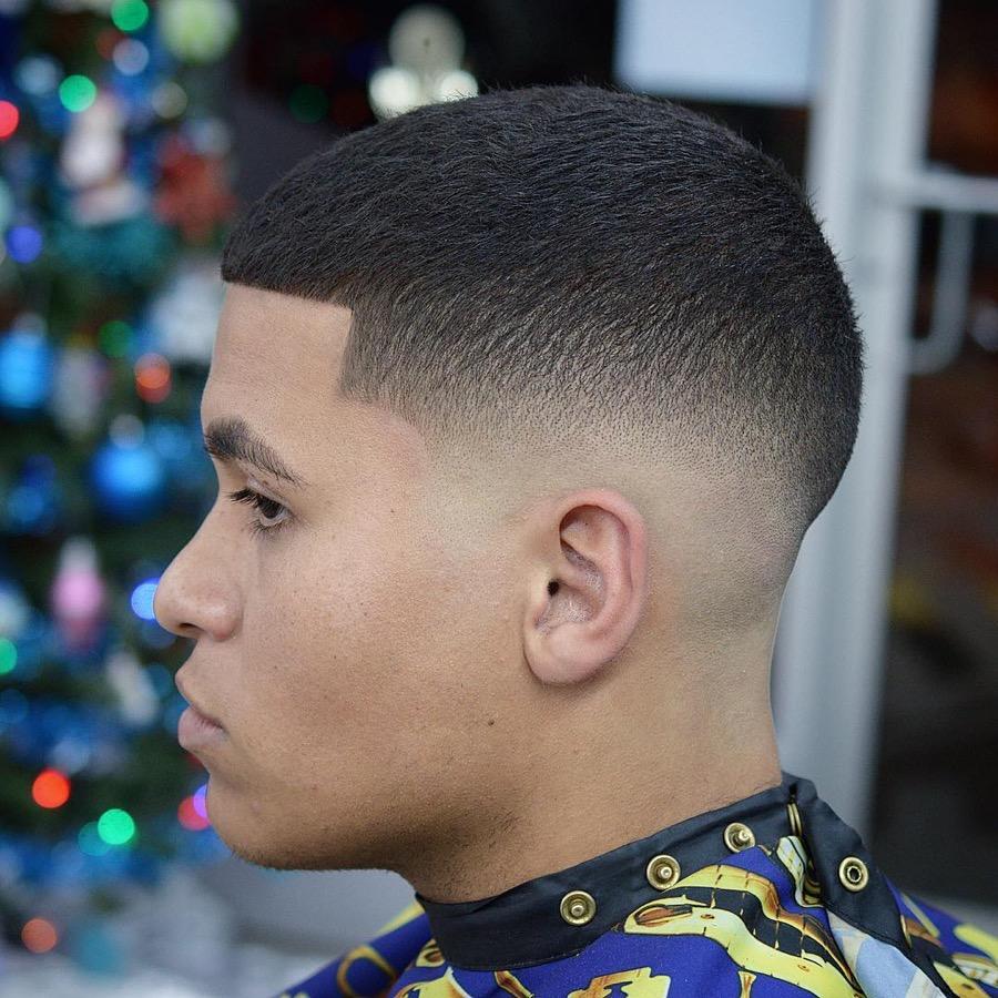 Buzz Cut + Edge Up + Drop Fade Haircut