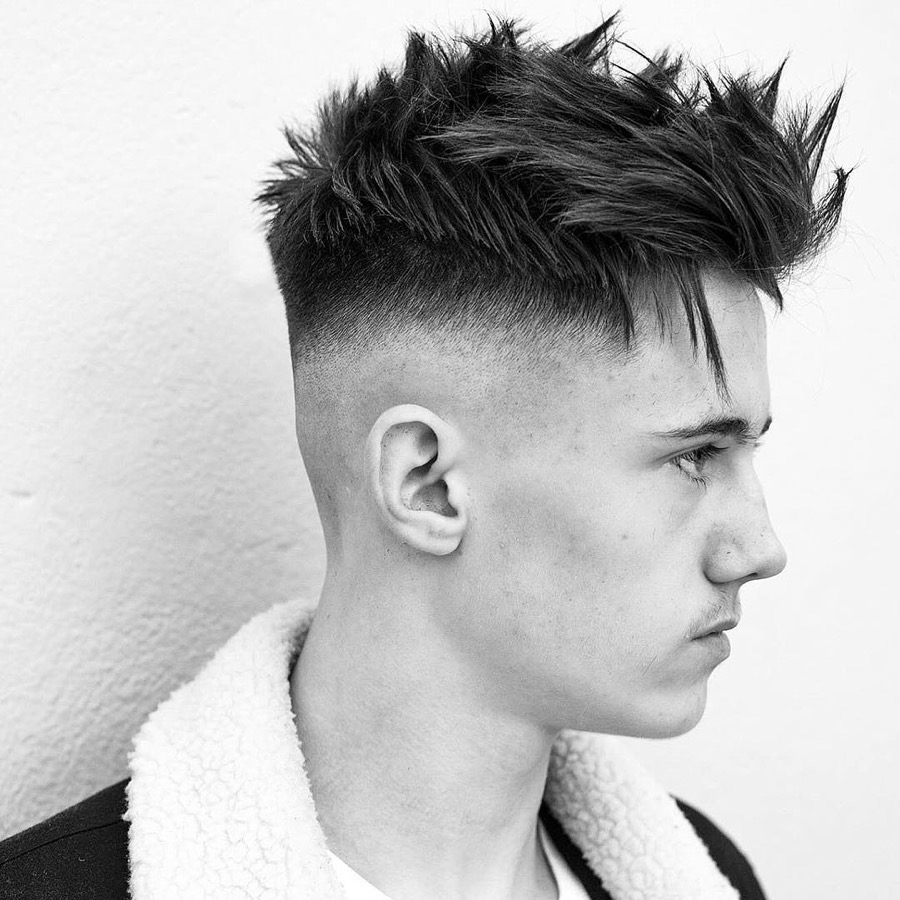 Choppy Textured Haircut + Bald Fade