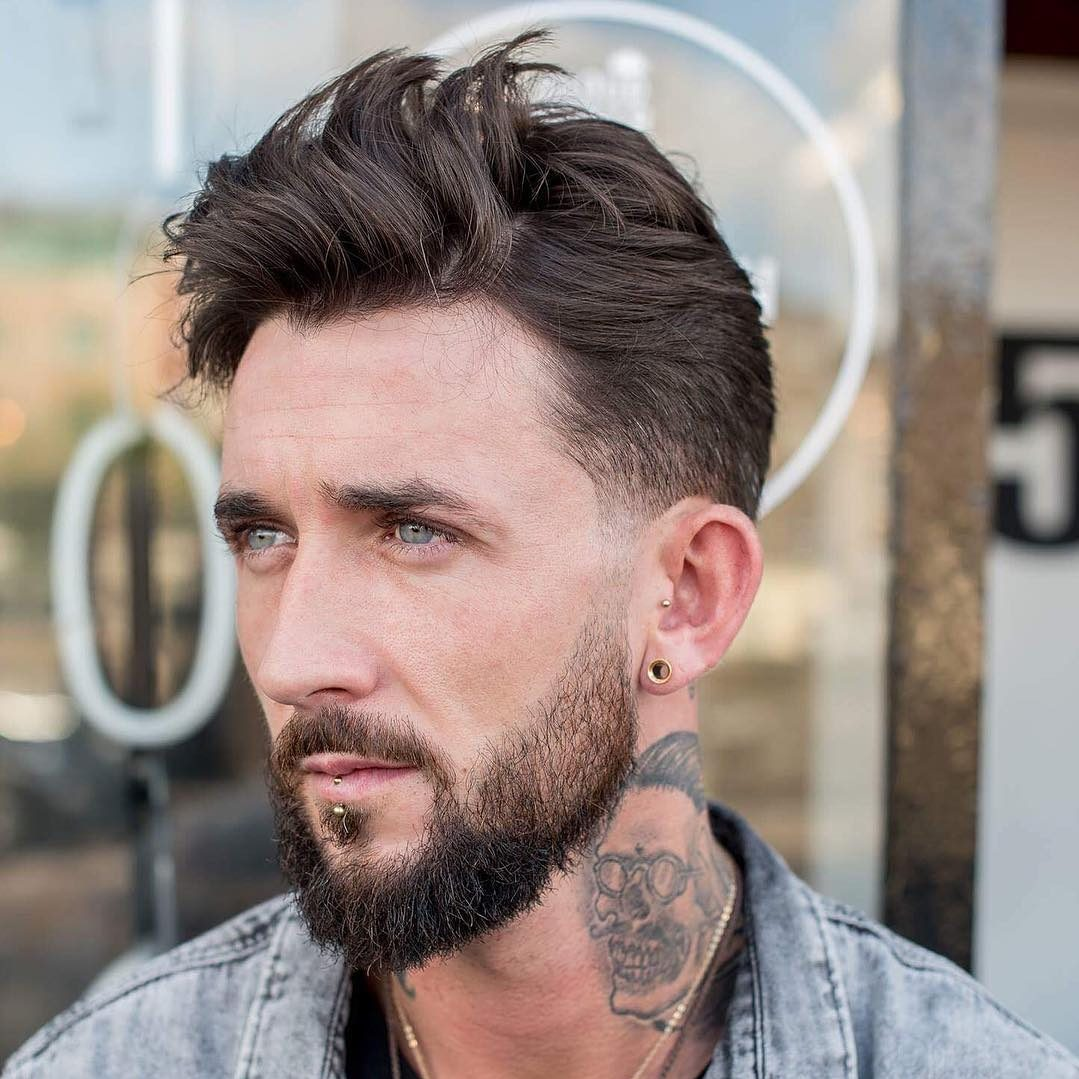 27. Low Fade Haircut + Wavy Hair