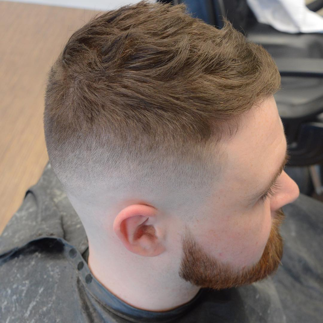 Short textured mens haircut