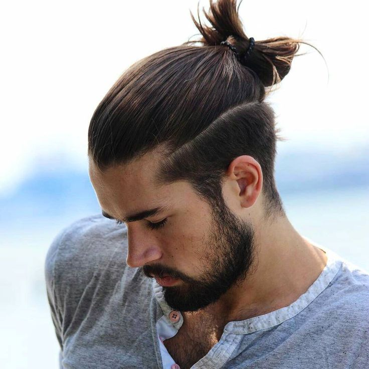 21 man bun styles. Black Bedroom Furniture Sets. Home Design Ideas