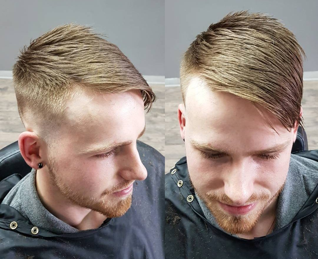 Mens Comb Over Fade