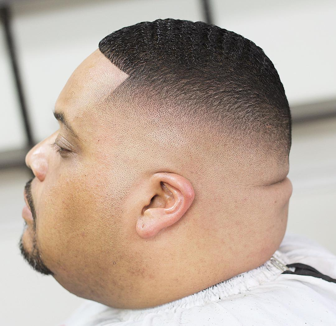 360 waves with high skin fade short men's haircut