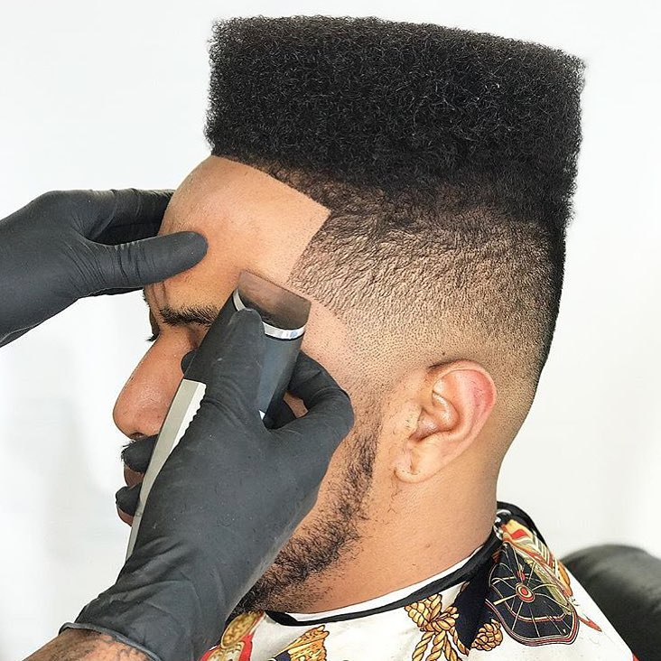 Medium length flat top