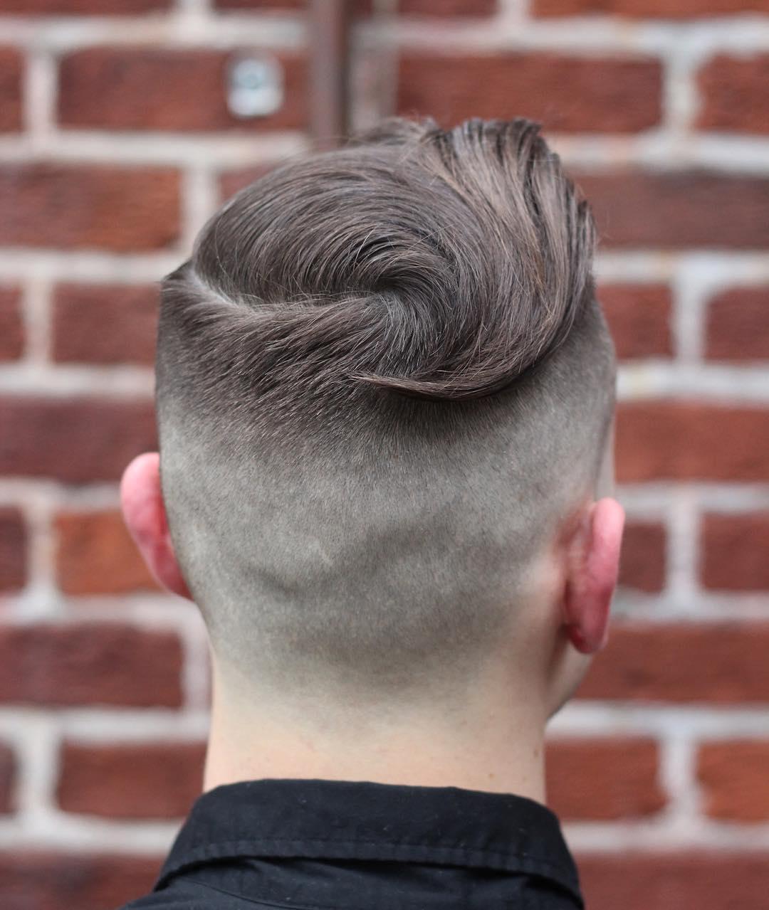 Sweep back haircut