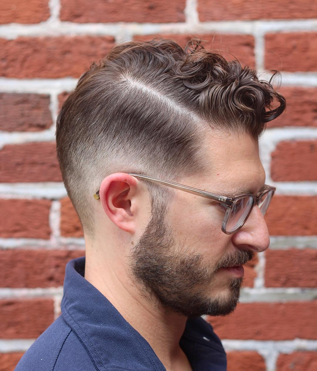 Curly Comb Over Haircut + Burst Fade