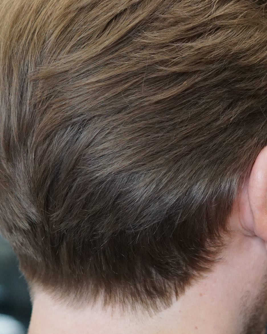 Tapered mens hair