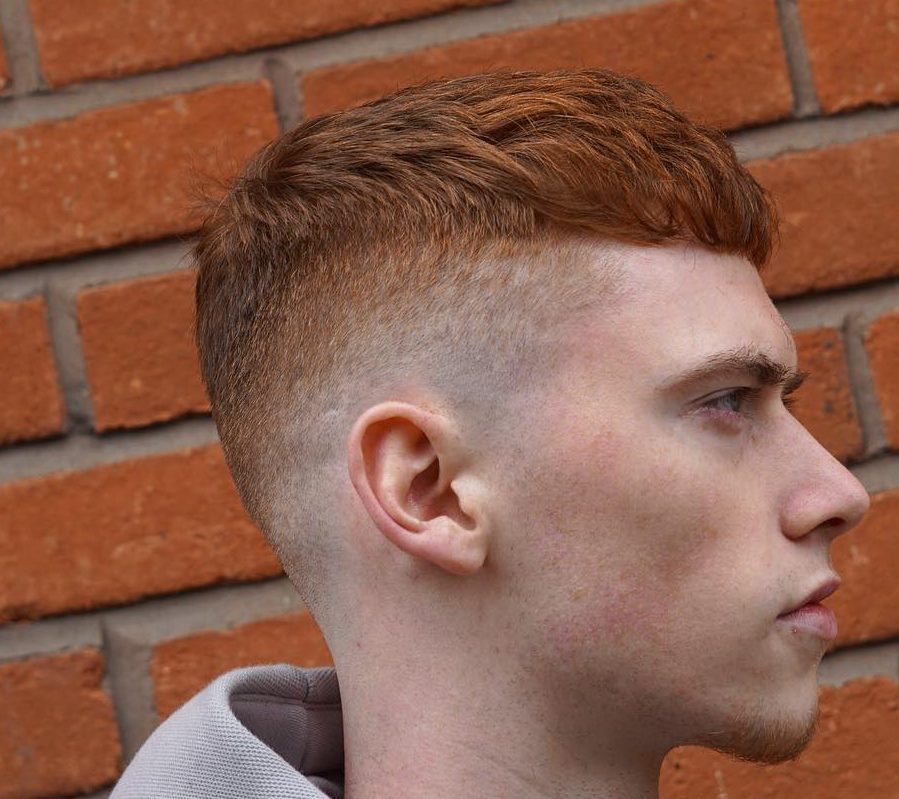 Crop haircut with high fade
