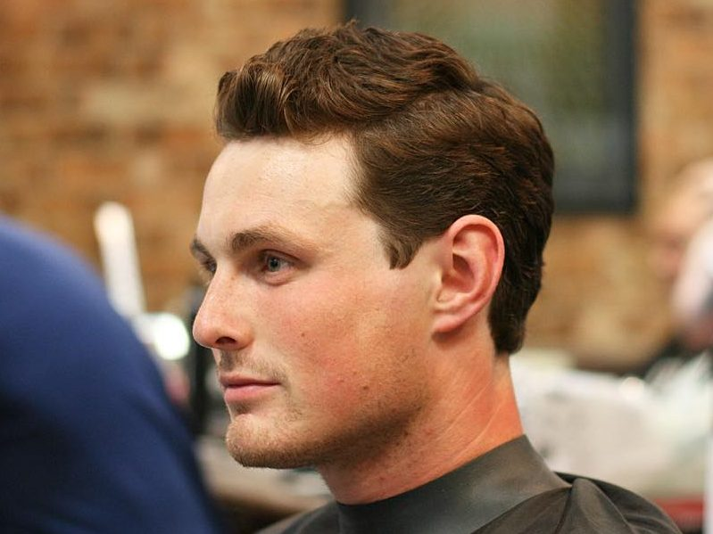 Classic haircut for men