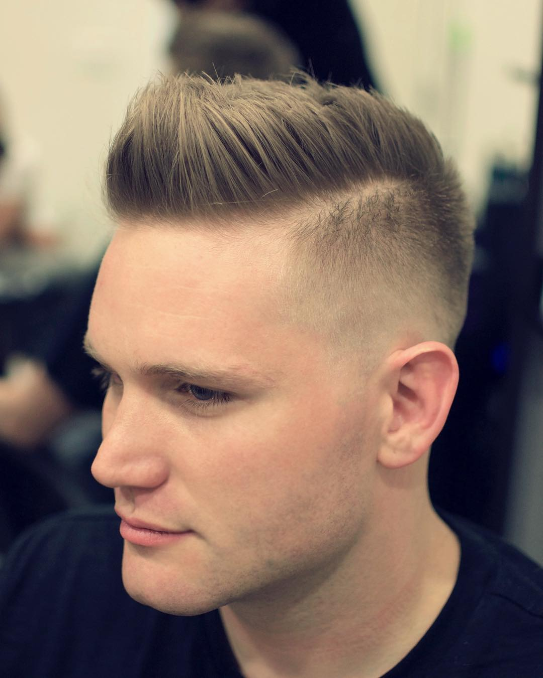 Modern flat top haircut