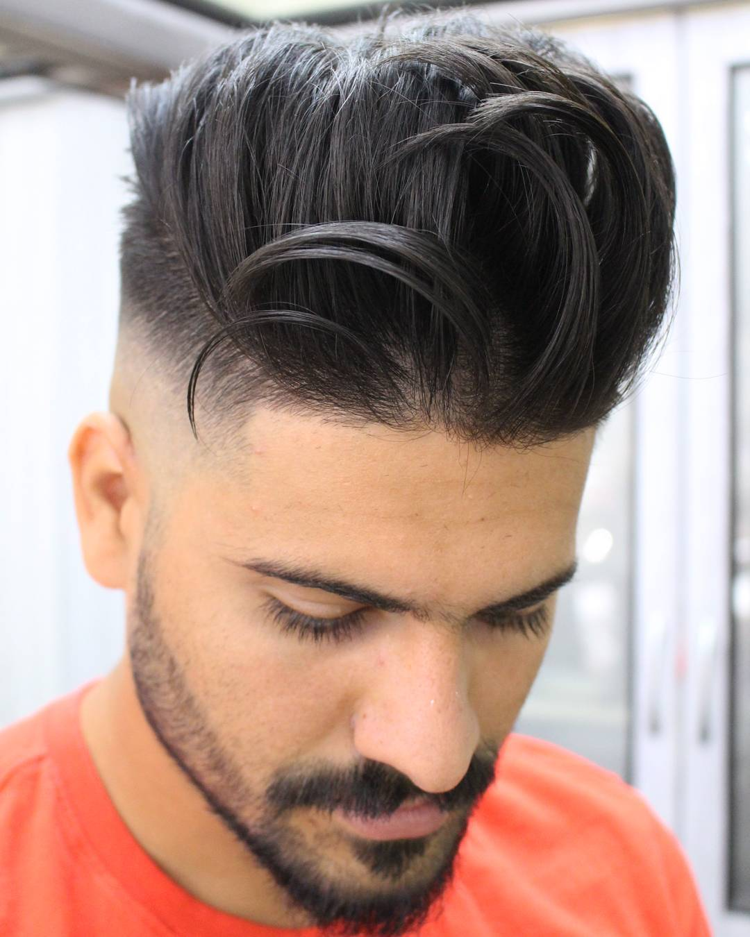 Messy Pompadour Hairstyle