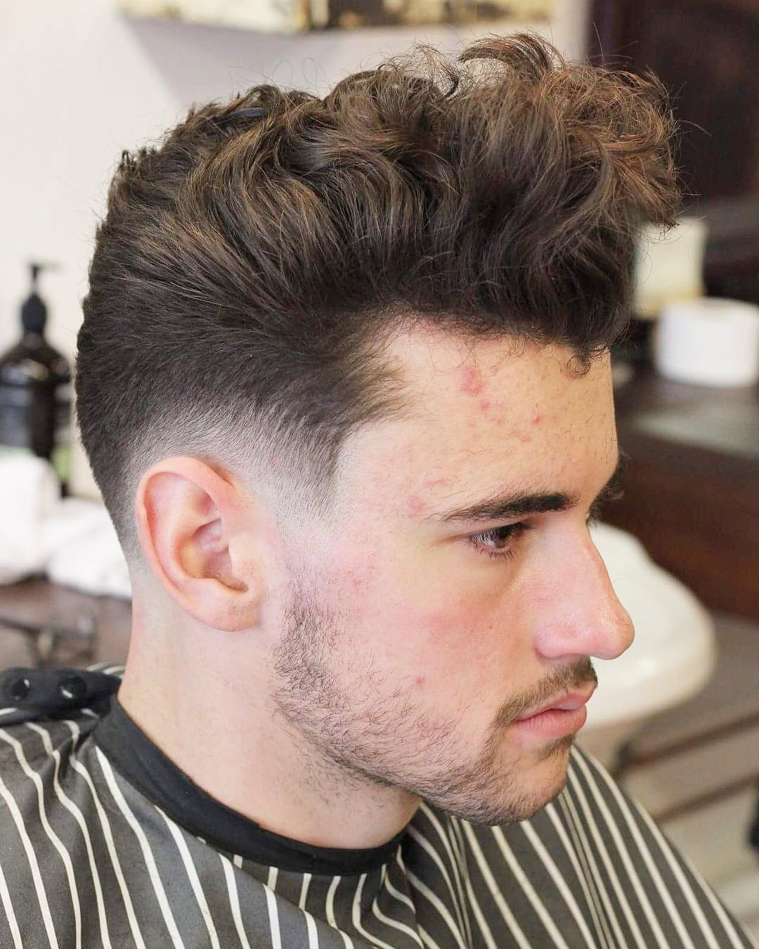 hair styles for curly hair men stylish haircuts for 2017 5085 | musketandbayonet wavy pomp textured low skin fade cool mens hair