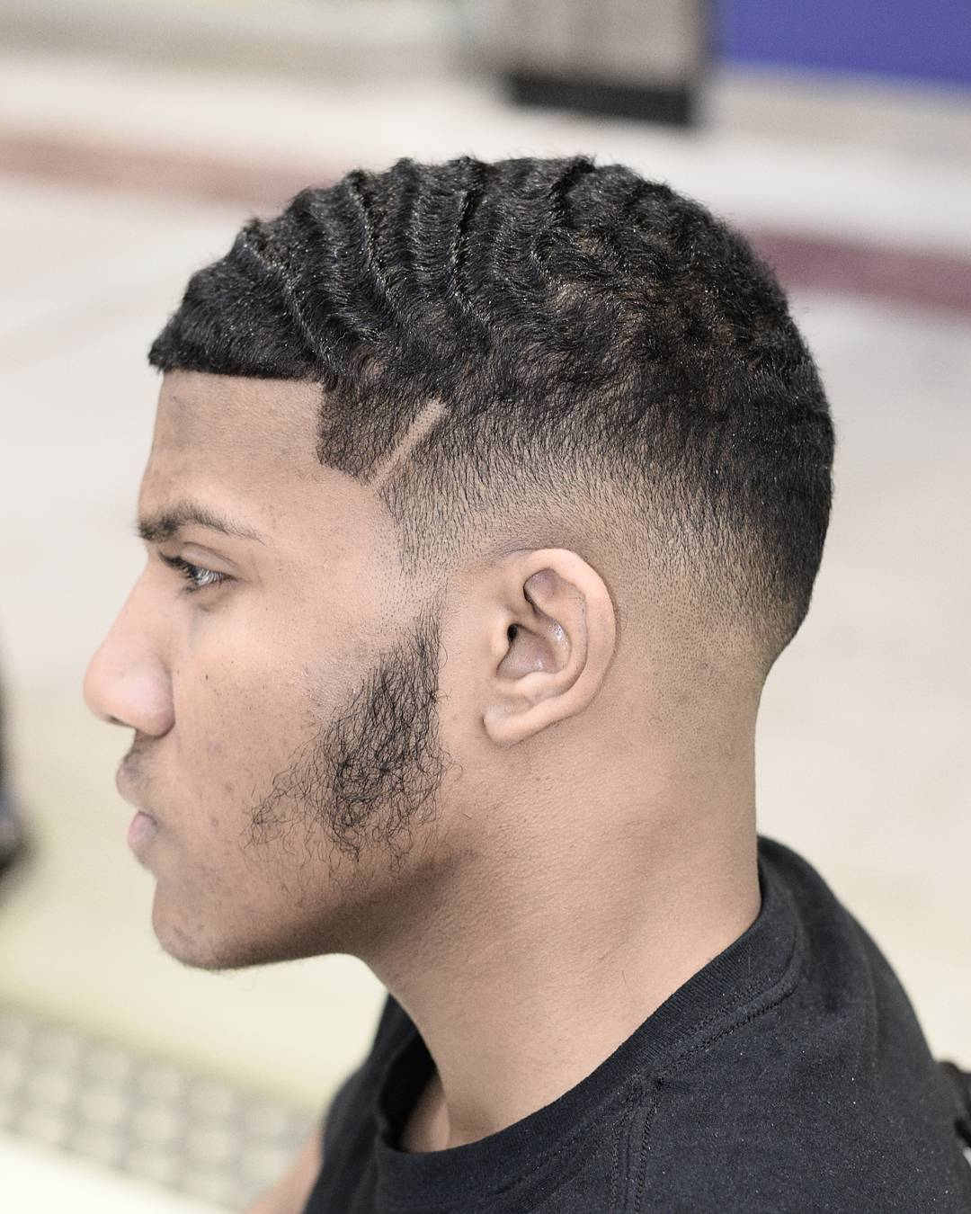 Drop Fade Waves Haircut With Part 11