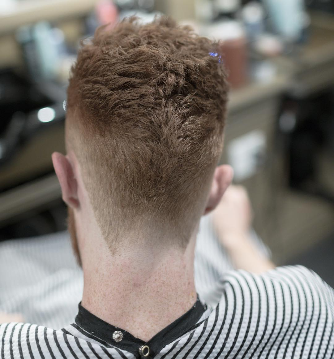 Tapered mens haircut