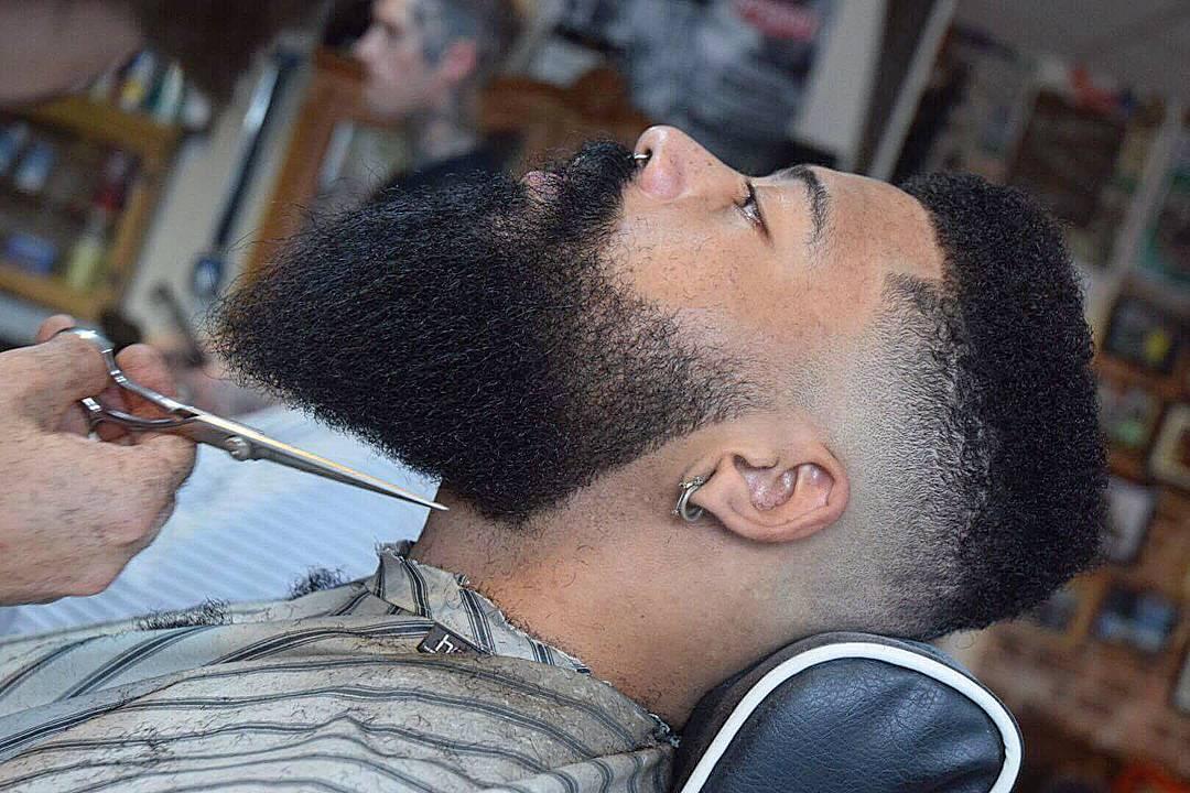 Short flat top haircut and beard