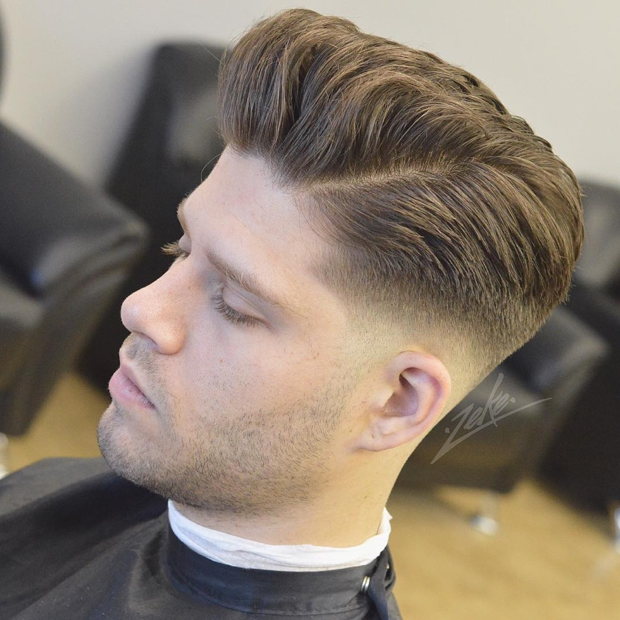 low fade haircut pompadour hairstyles for 9444
