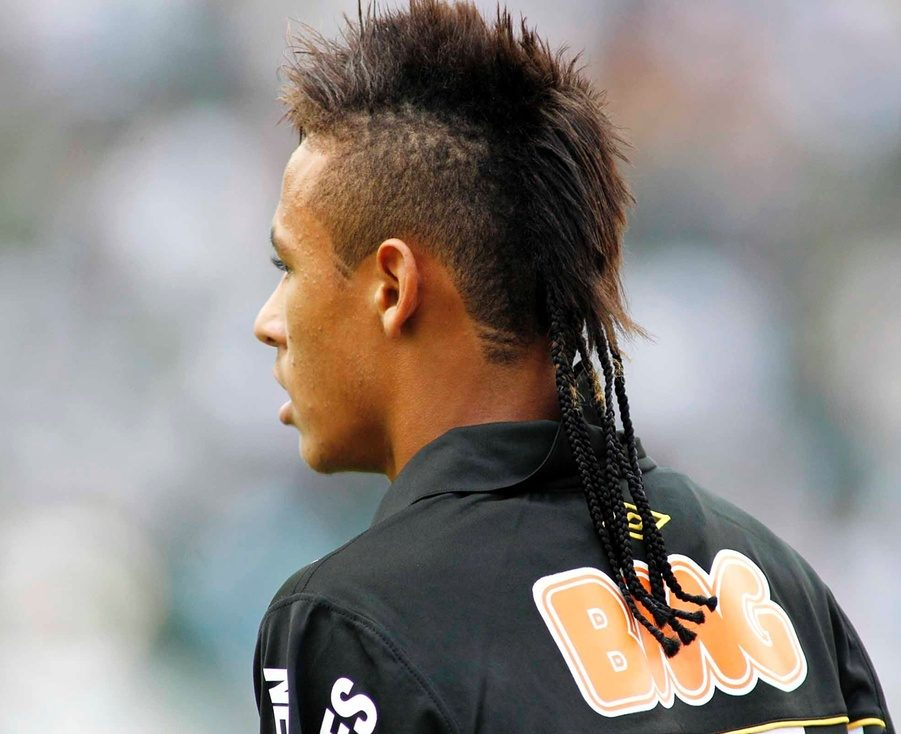 Neymar haircut the most elaborate of neymars hairstyles not just anyone can pull this off the mohawk is cut in the traditional style with hair at the right length to urmus Image collections