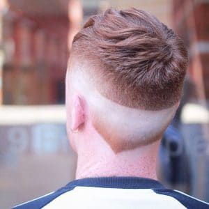 New Men's Hair Trends: Neckline Hair Design