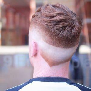 New Men's Hair Trends: Neckline Hair Design
