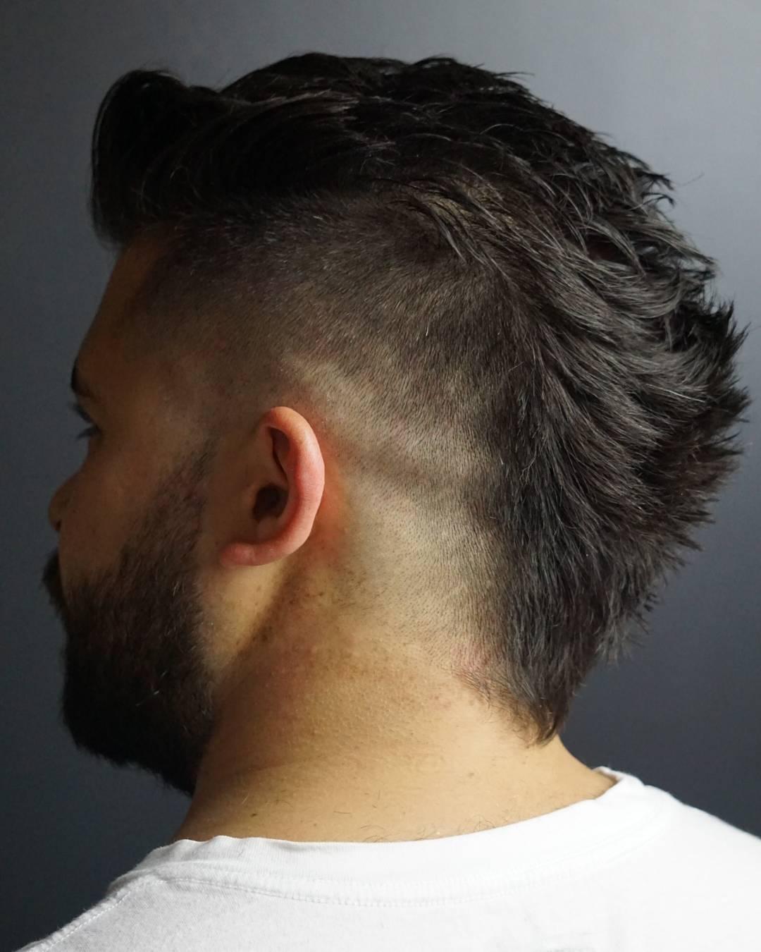 Mohawk undercut hairstyle