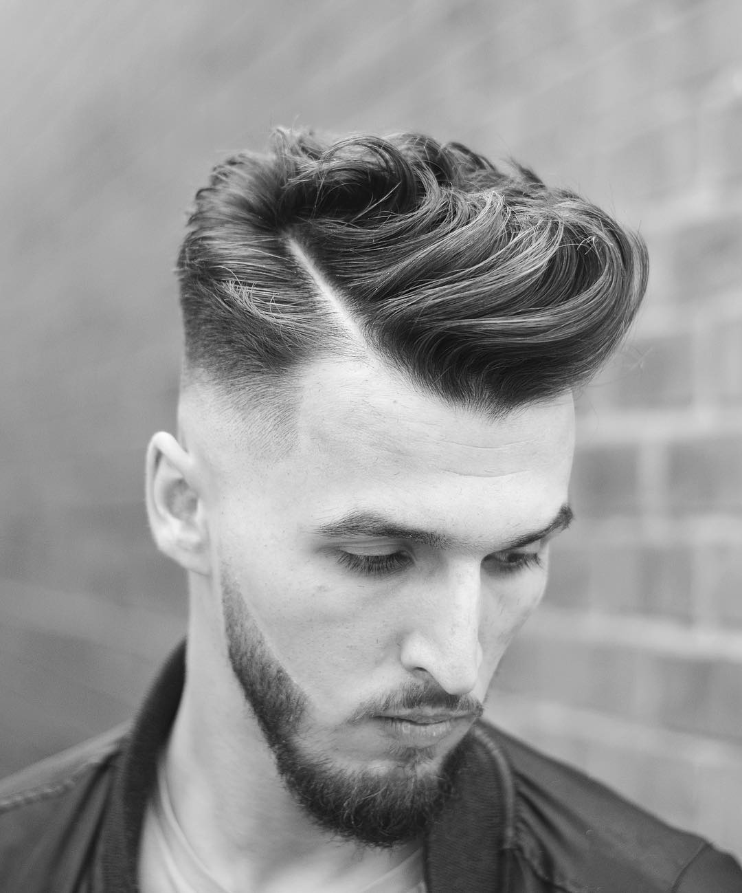 Cool side part hairstyle