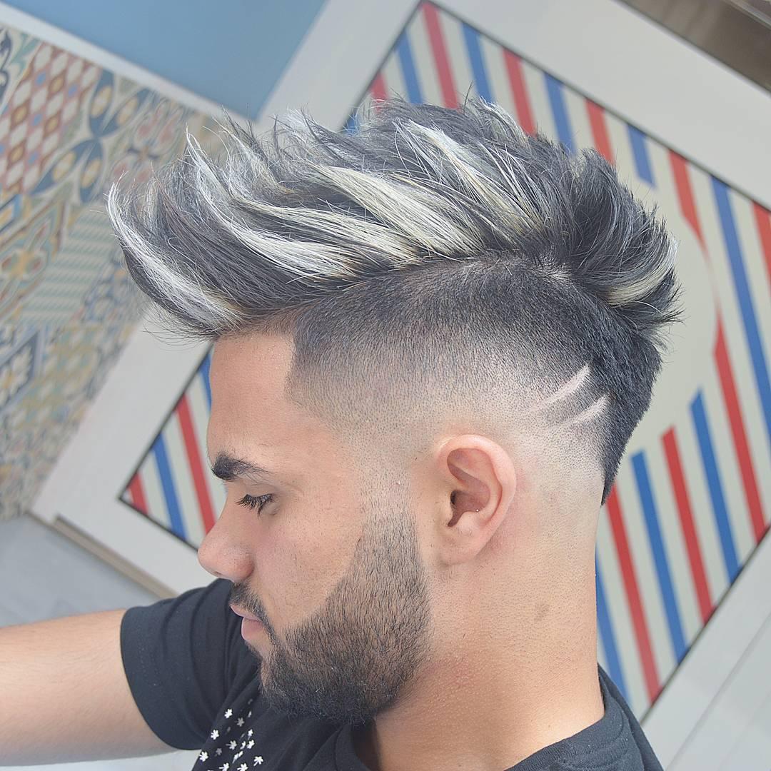 Spiky mens undercut hairstyle