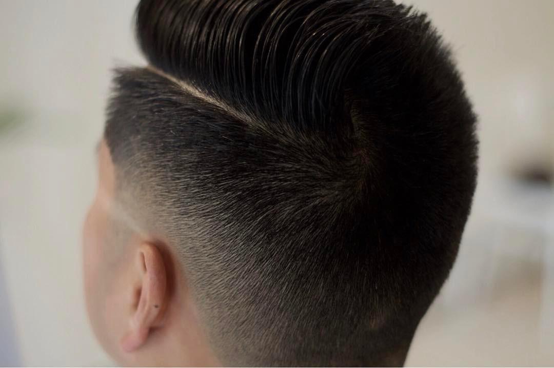 Combover fade haircut