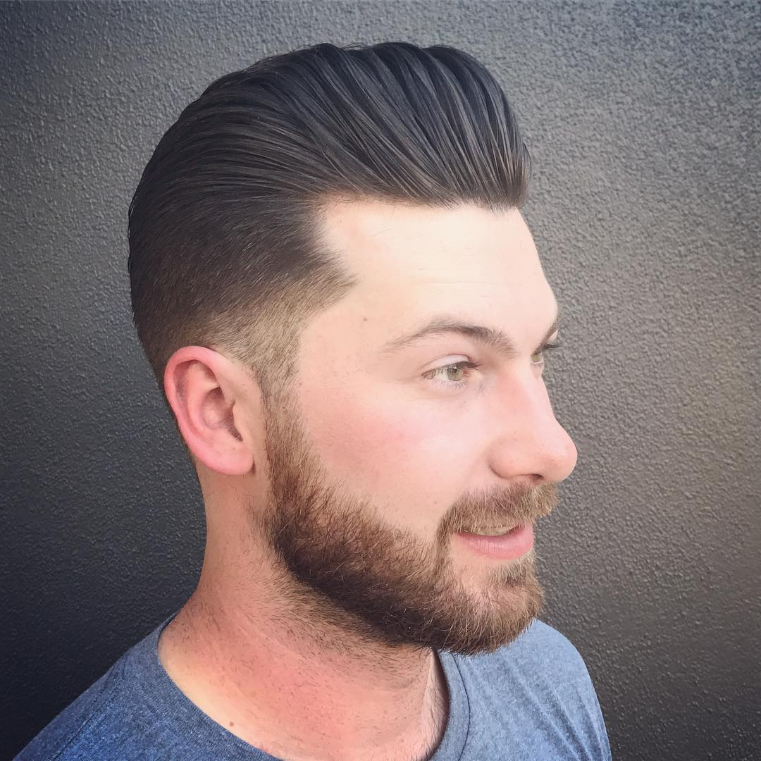 Cool Slicked Pompadour Haircut