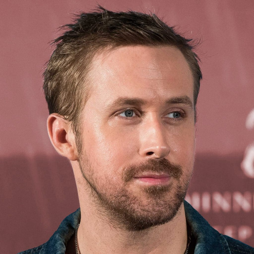 Slicked back hair men ryan gosling