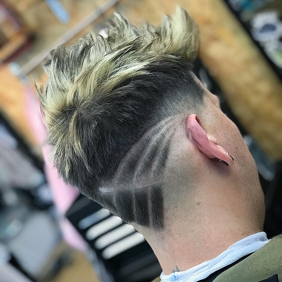 New hairstyles for men neckline hair design for Hair tattoo cost