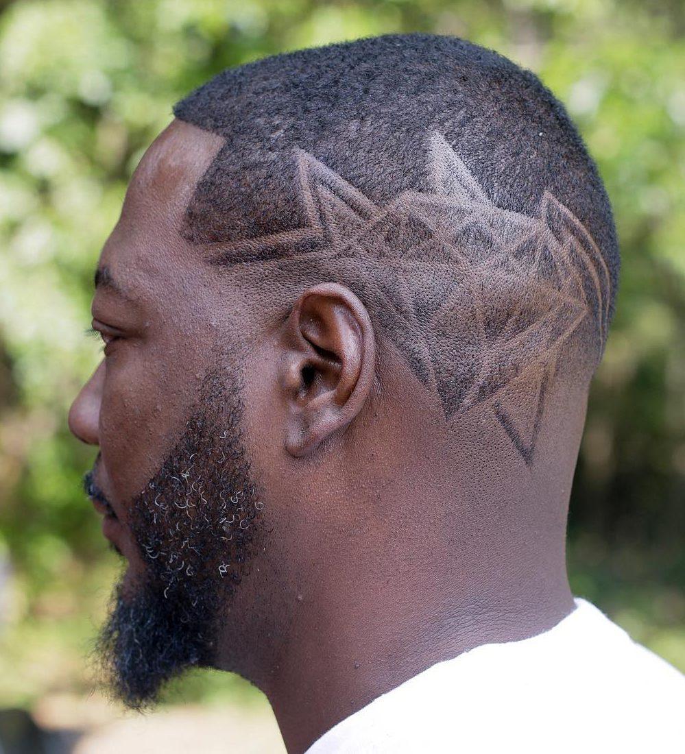 Hair design short haircut