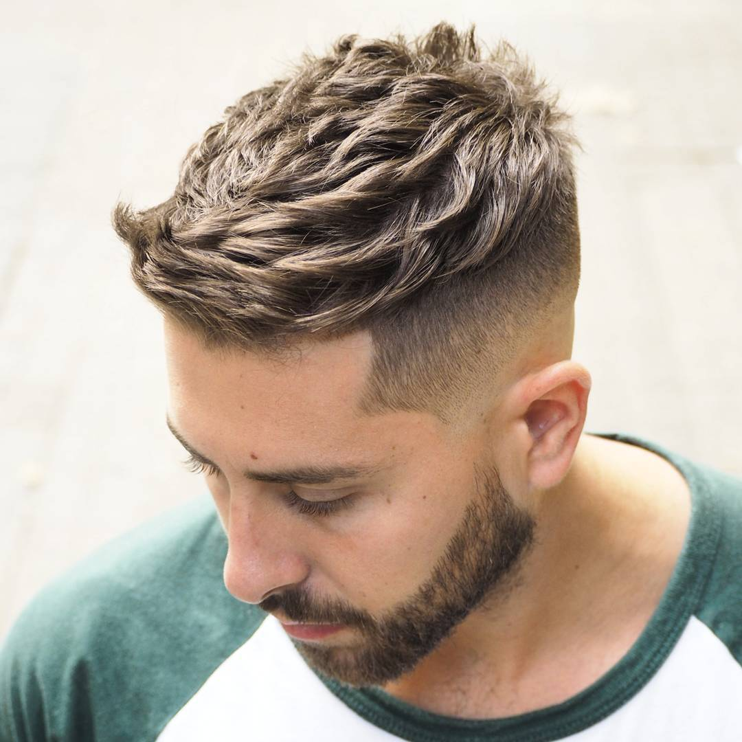 ambarberia short quiff haircut for men