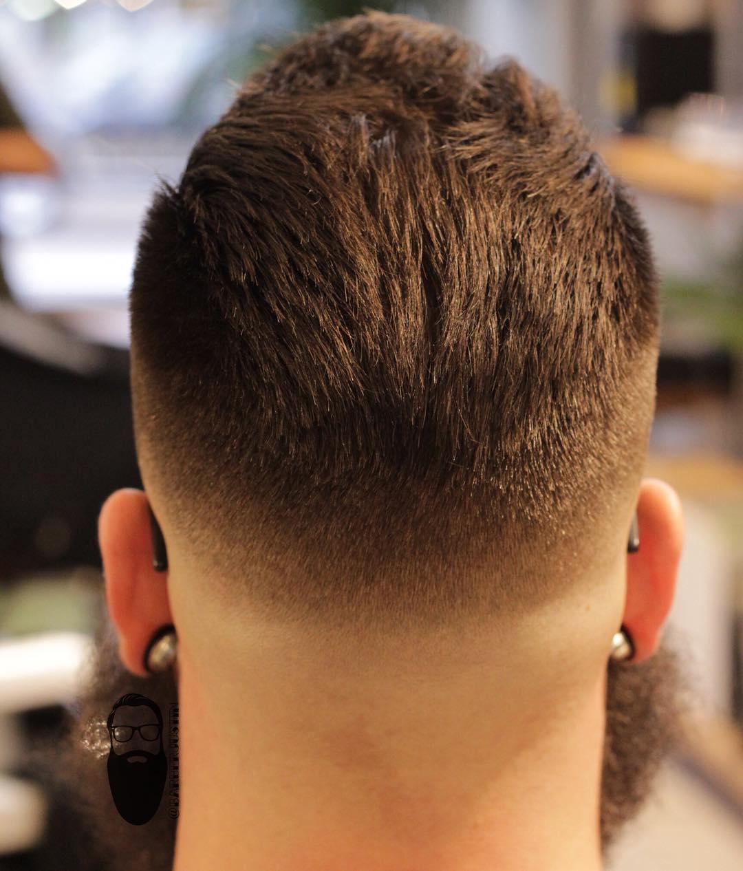 barberjustin bald skin fade haircut back
