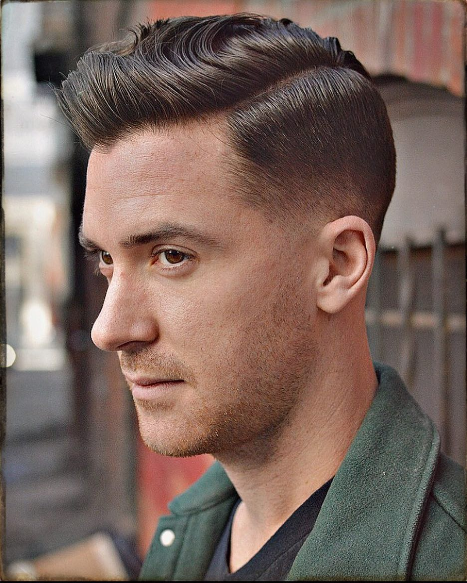 blackfishbry drop fade side part haircut