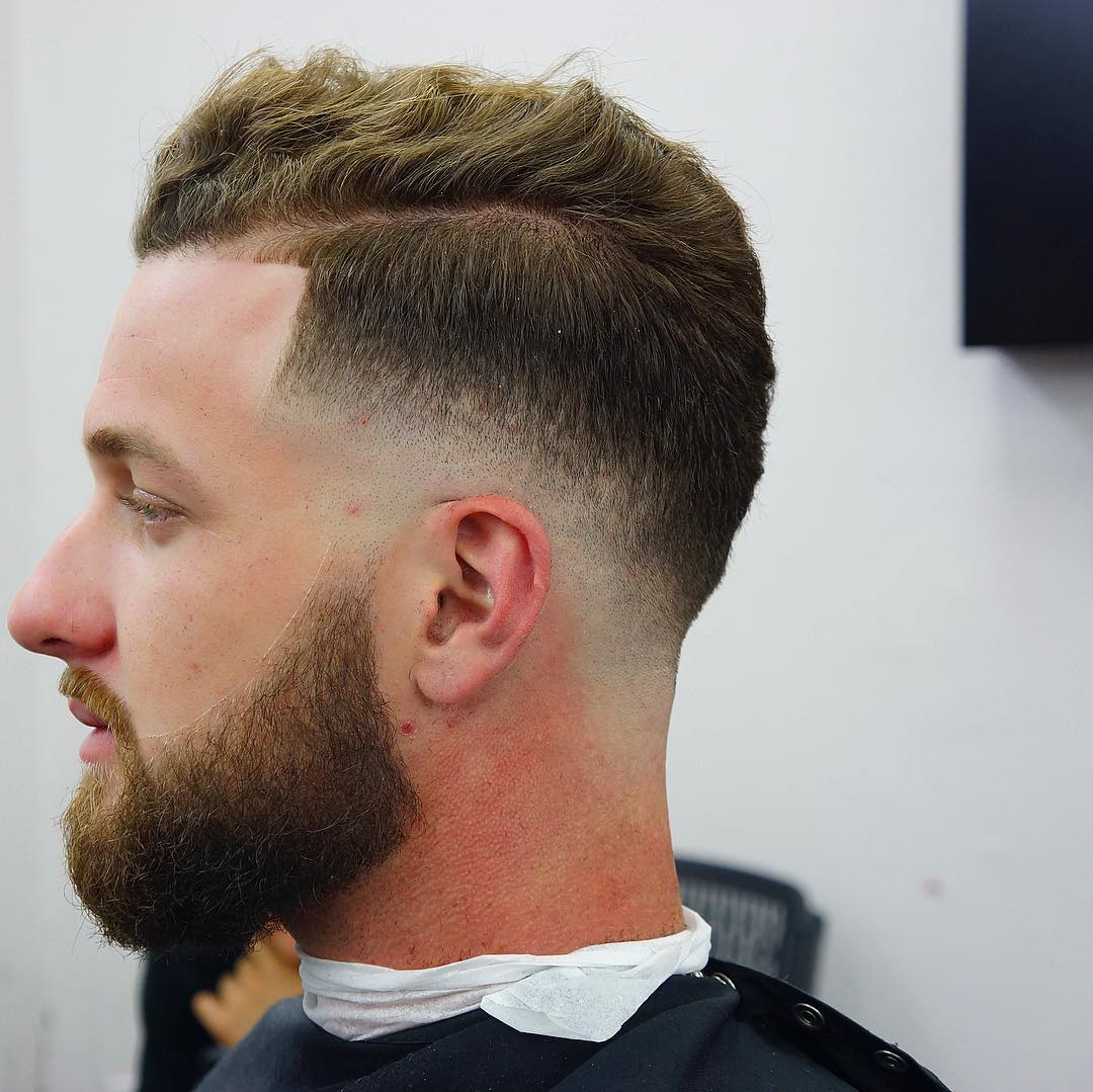 criztofferson bald drop fade haircut for men combover side part