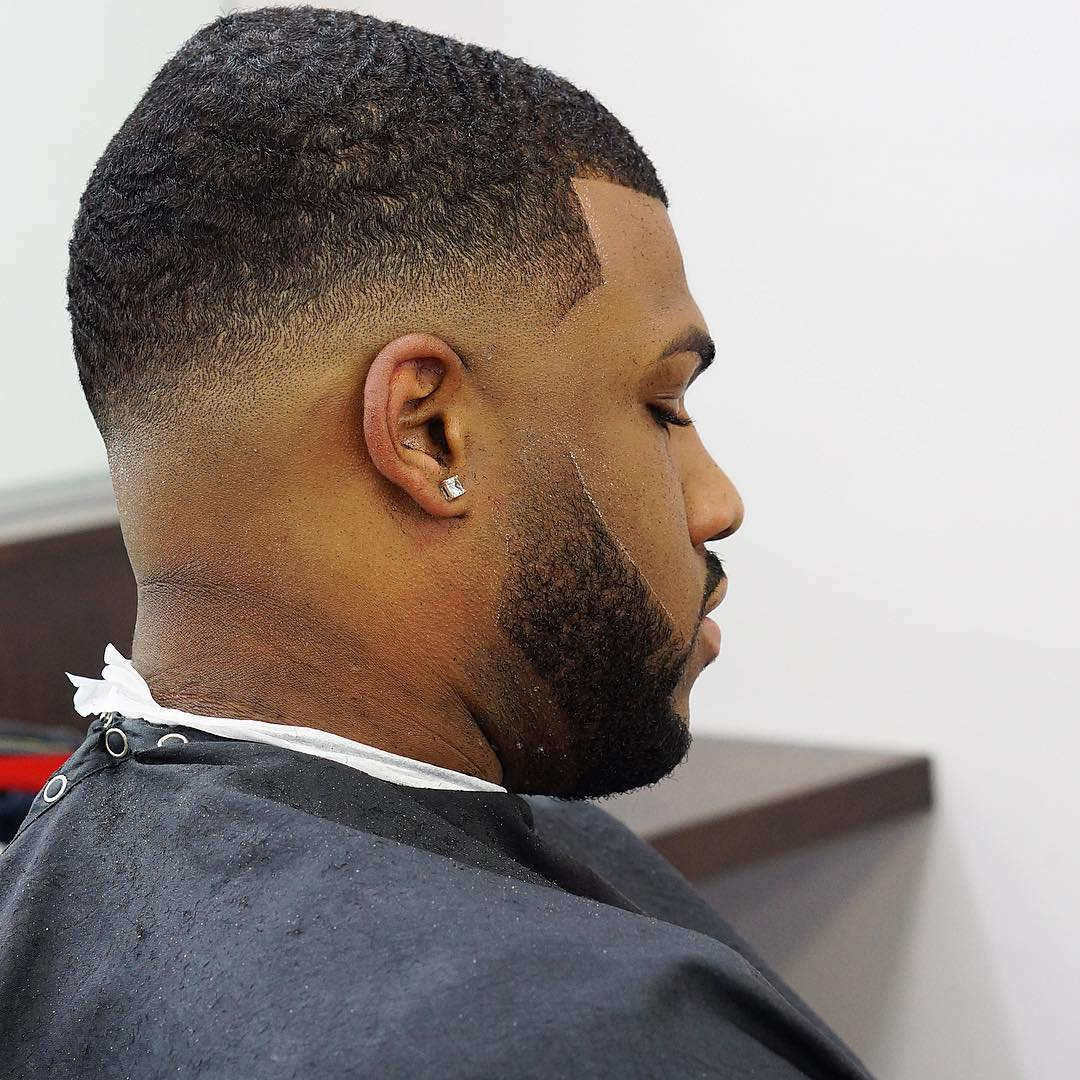 Drop Fade Waves Haircut With Part 31