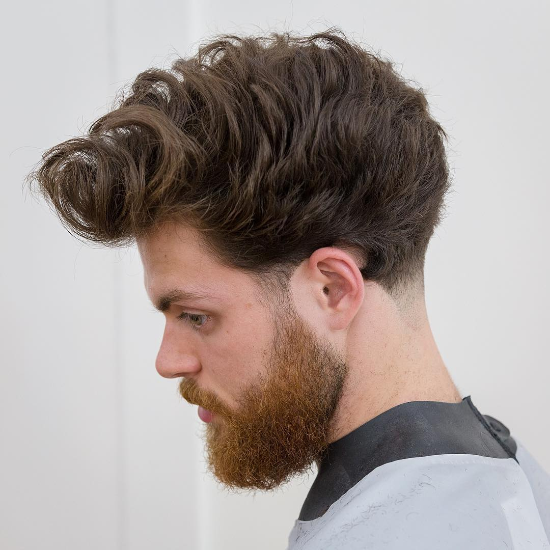 cutscoolcats taper haircut long wavy hair side