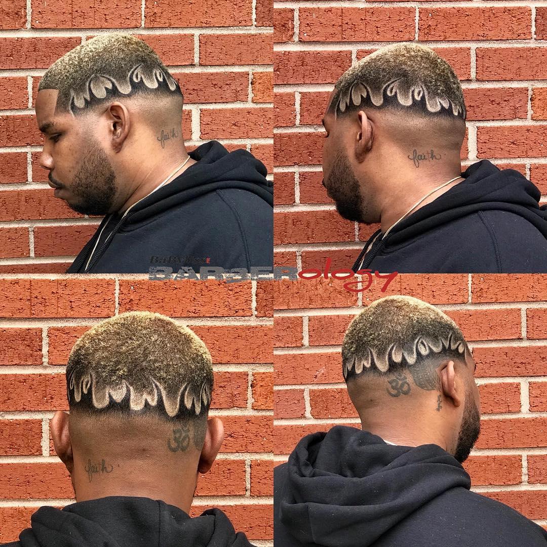hawkthebarberprodigy fire hair design