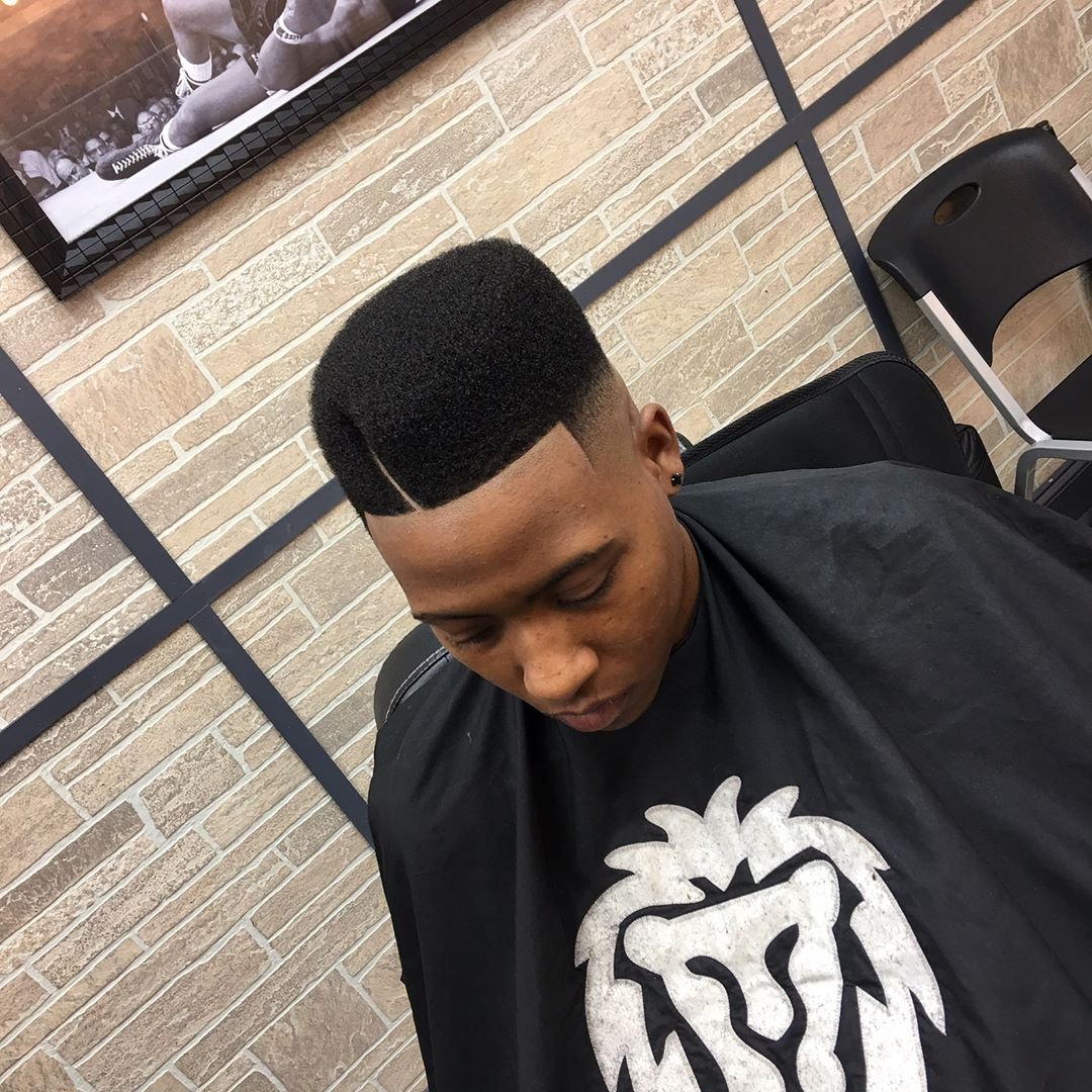 hawkthebarberprodigy hard part shaped flat top