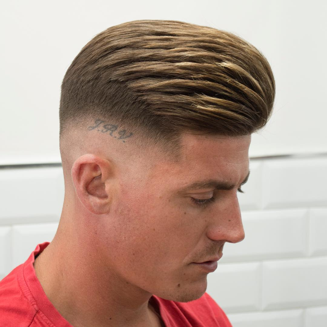 javi_thebarber_ medium hair styled back textured haircut for men 2017 2018