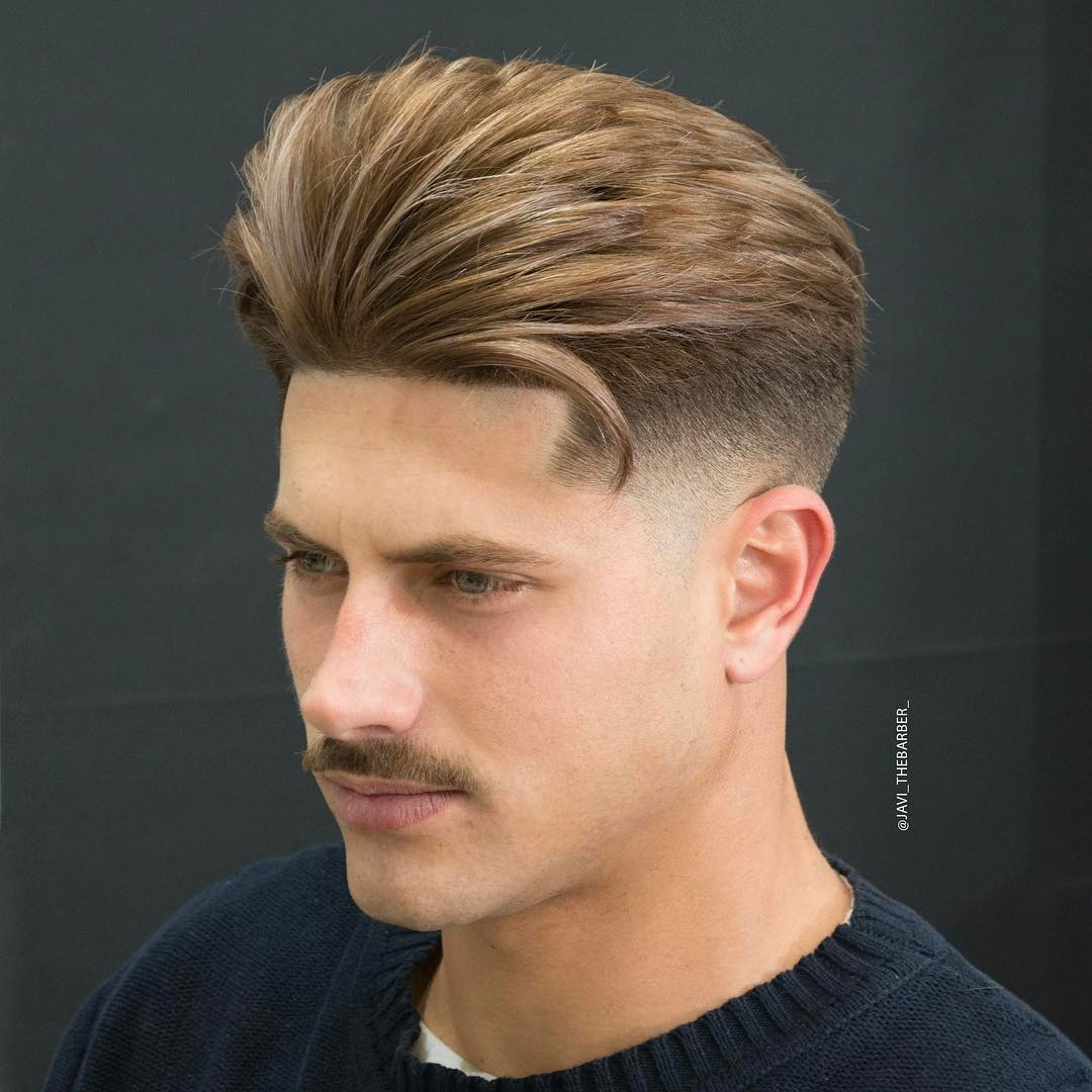 javi_thebarber_ medium length mens hairstyle