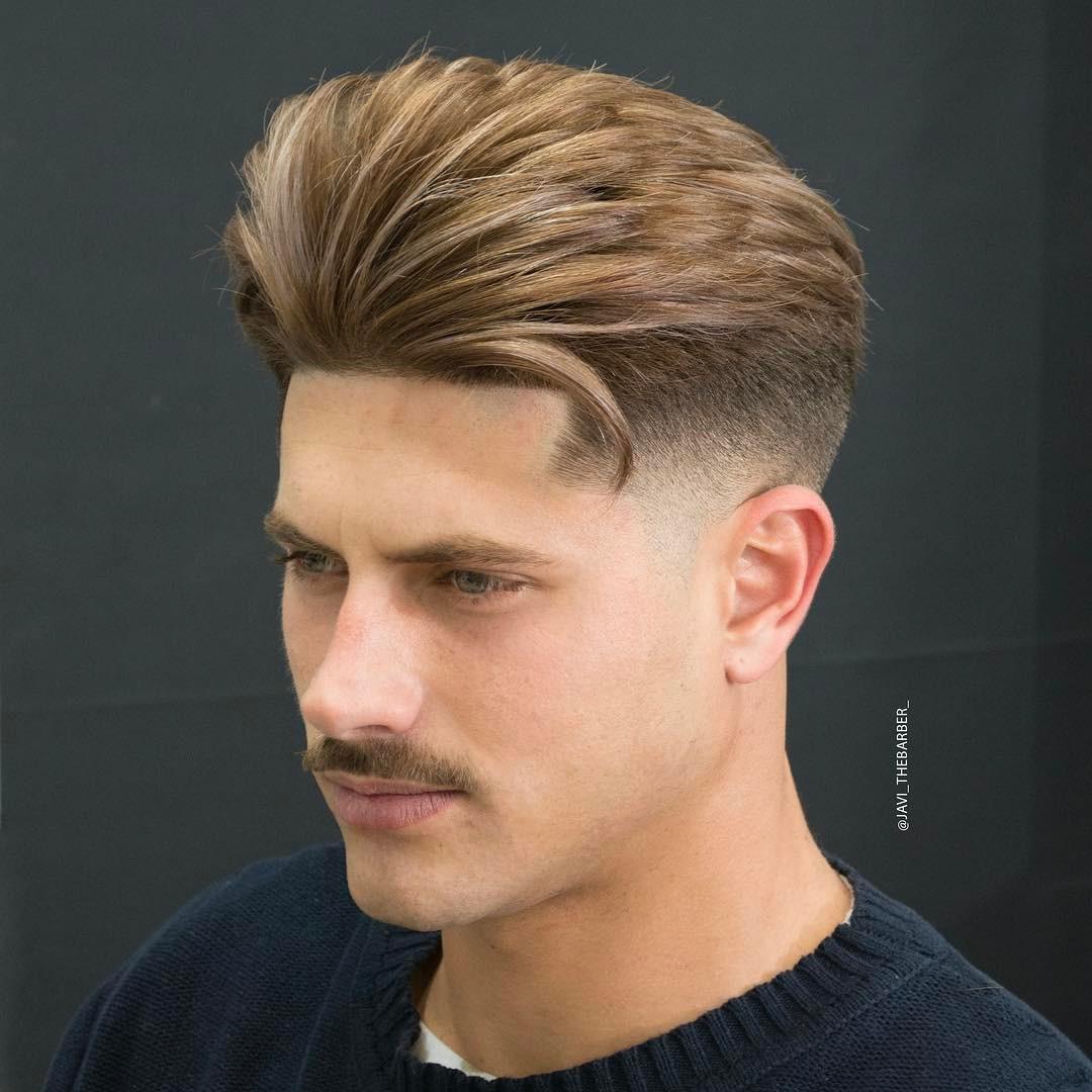 javi_thebarber_ medium length mens hairstyle
