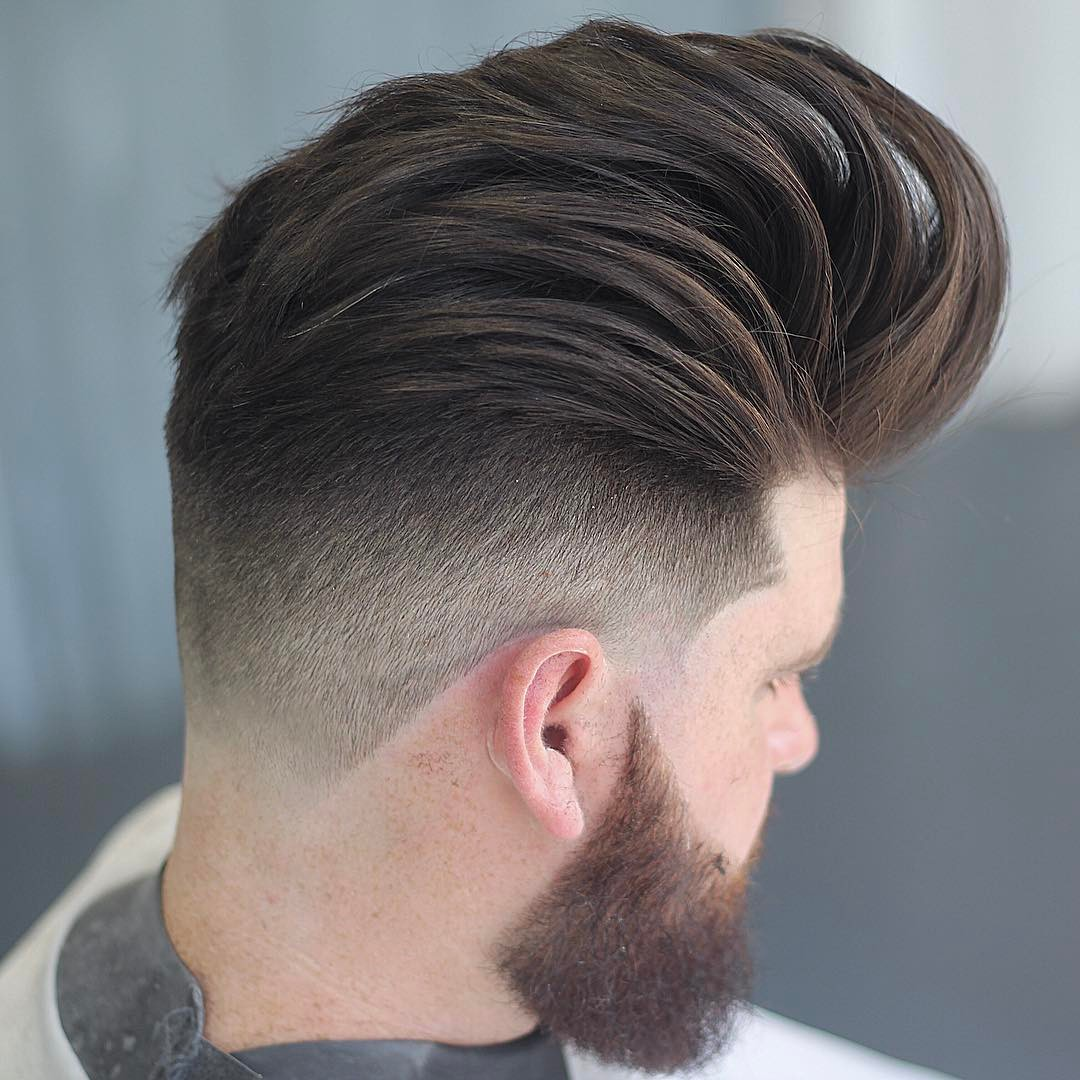 m13ky massive long loose pompadour hairstyle for men