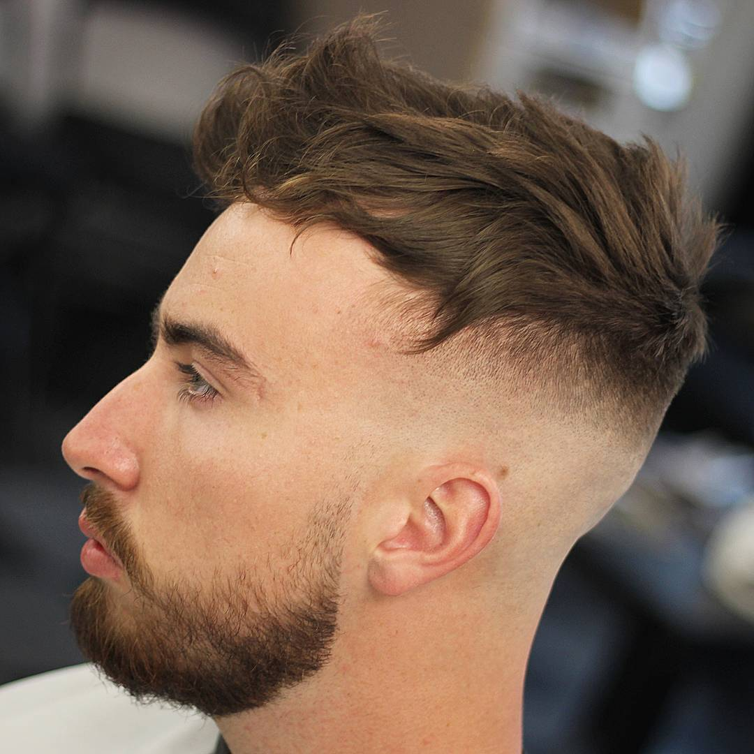 odyzzeuz bald fade haircut messy long hair and fringe on top