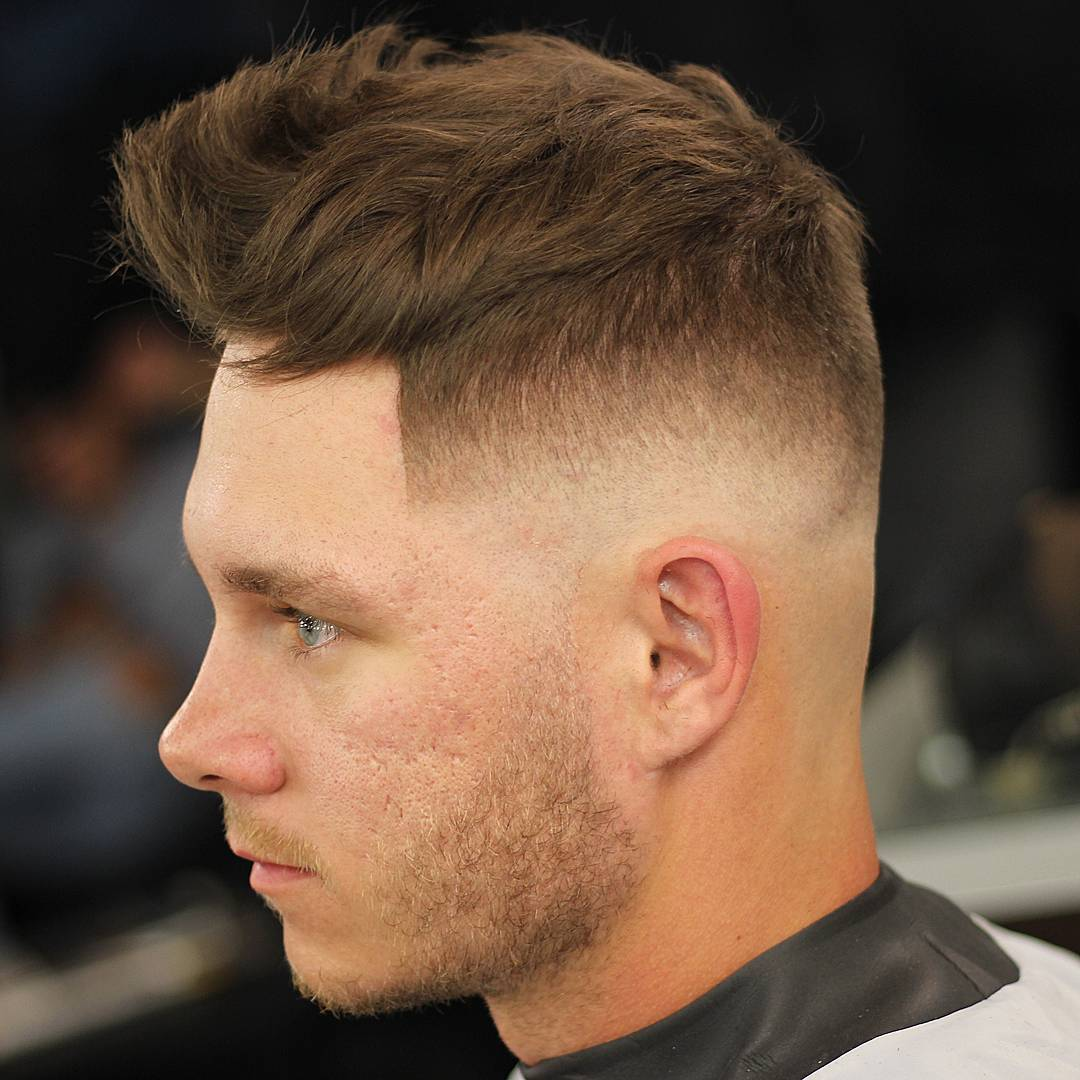 odyzzeuz bald fade haircut quiff hairstyle for men