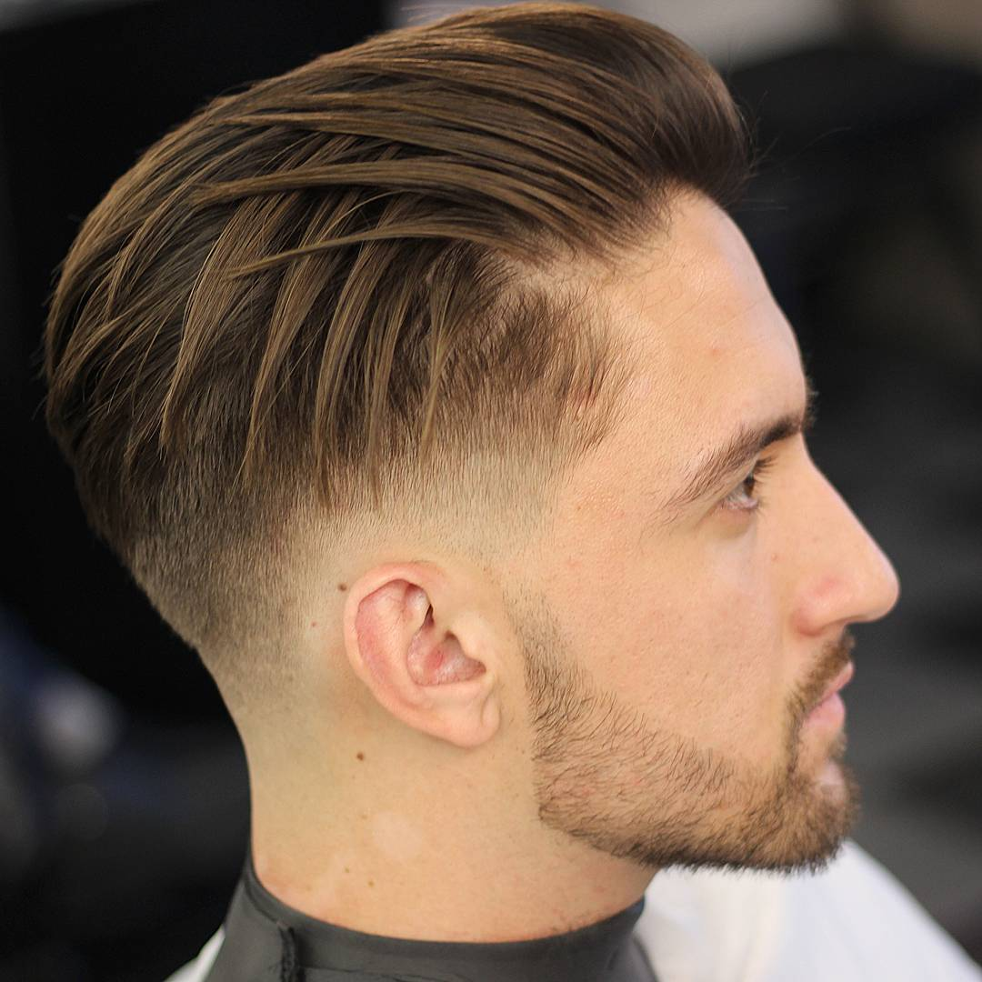 odyzzeuz modern mens classic haircut long textures slicked back fine hair
