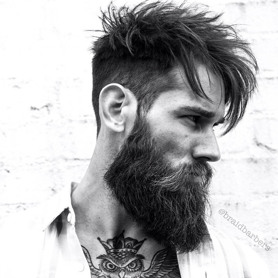 r.braid long hairstyle for men with beard 2017 2018
