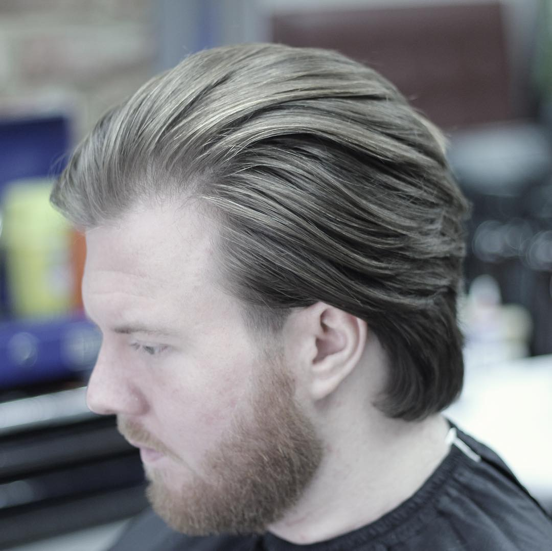stasibarbers long mens hairstyle natural flow